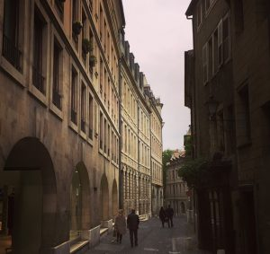 The side streets of Geneva
