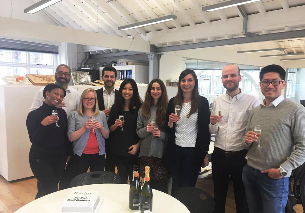 The London team celebrating the results