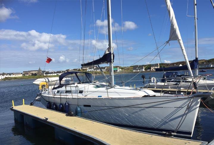 Affinity berthed in Port Ellen