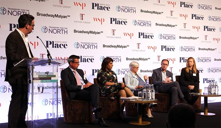 The panel discussion at the Northern Transport Summit