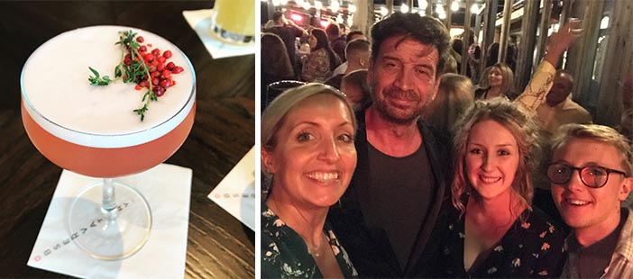 Some of the team enjoying the company of Nick Knowles